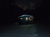 Barlow Butte Hut in the Dark