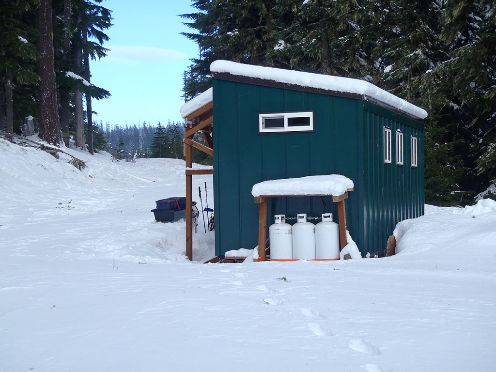 Side View of Barlow Butte Hut