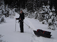 Jason with Pulk Sled