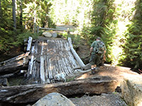 Old Broken Bridge Over Barlow Creek