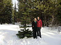 Katie and Jason with their Wild Noble Fir Christmas Tree