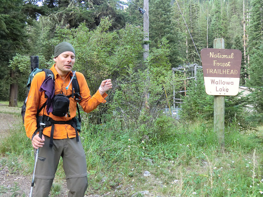 Mule Deer Near Wallowa Lake Trailhead Matt Showing Off His Injuries At