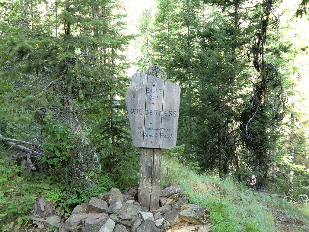 Eagle Cap Wilderness Sign