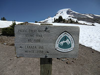 Pacific Crest Trail Sign on Mount Hood