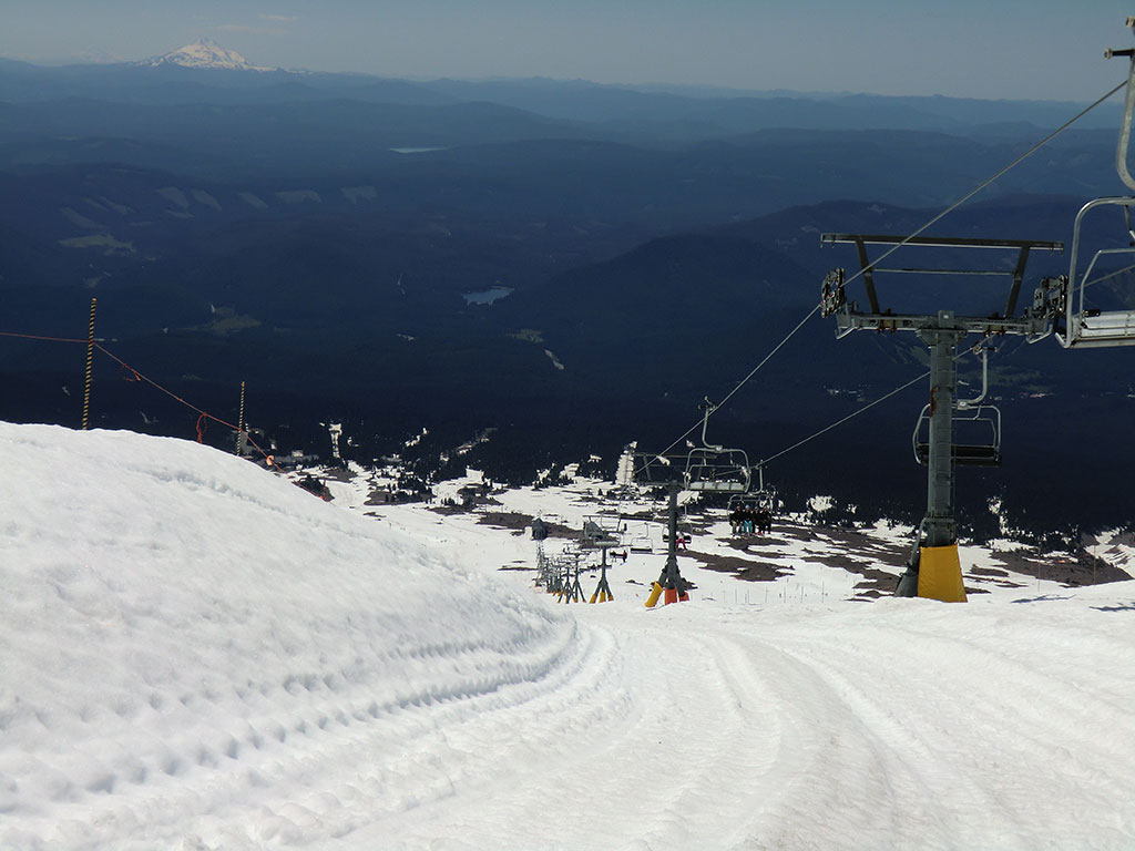 Looking Down from Top of Palmer Chair Lift