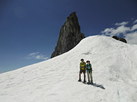 Jason and Katie in front of Illumination Rock
