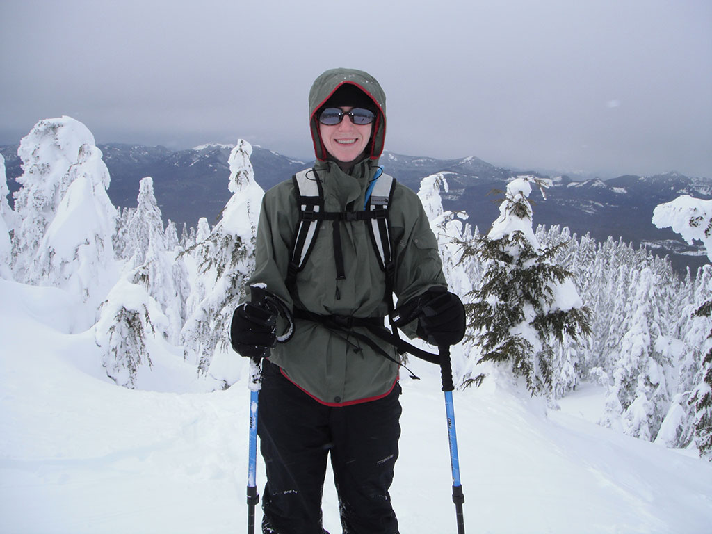 Katie on the Summit of Maxwell Butte