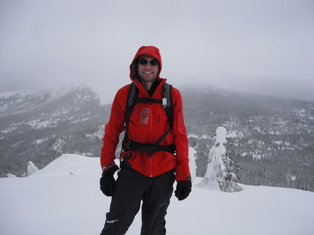 Jason on the Summit of Maxwell Butte