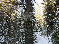Salmon-Huckleberry Wilderness Sign