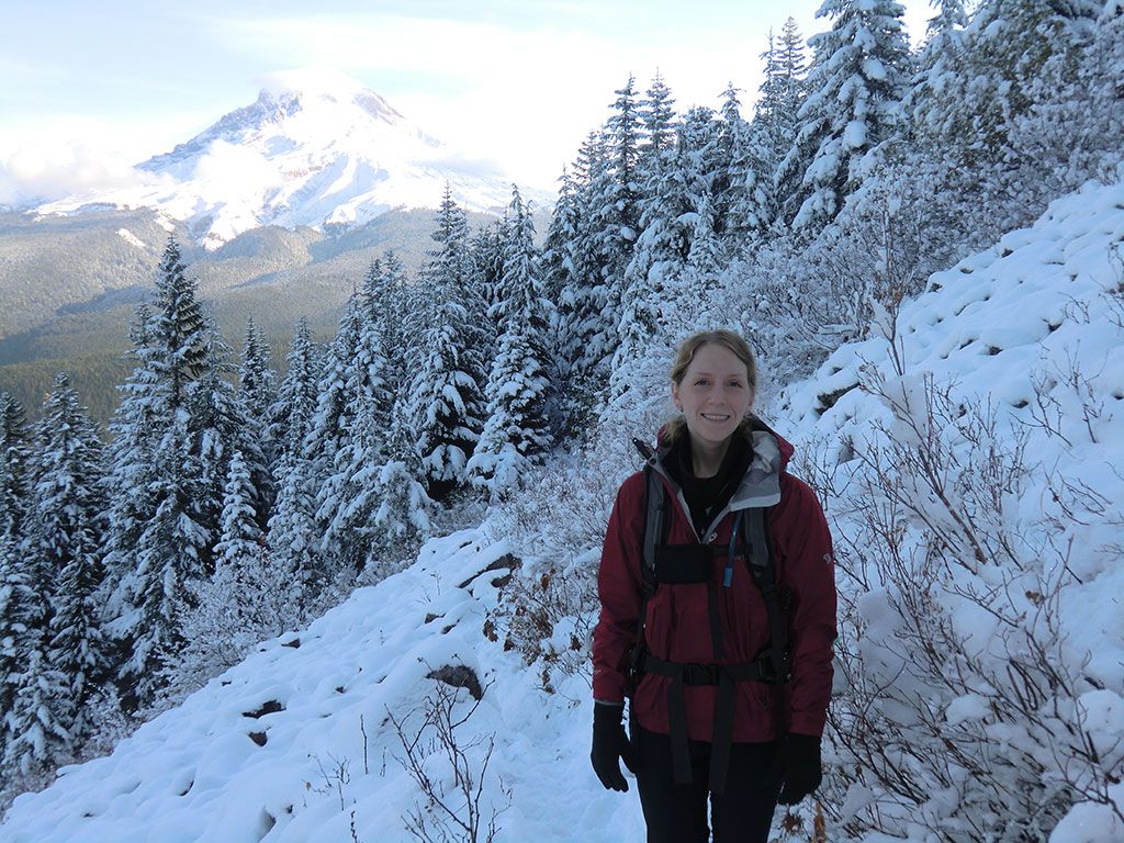 Katie with Mt Hood in the Background