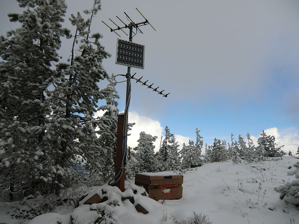 Seismograph Station on Middle Summit of Tom Dick and Harry Mountain