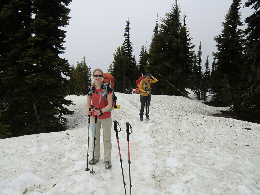 Katie and Kara Climbing Mount Adams