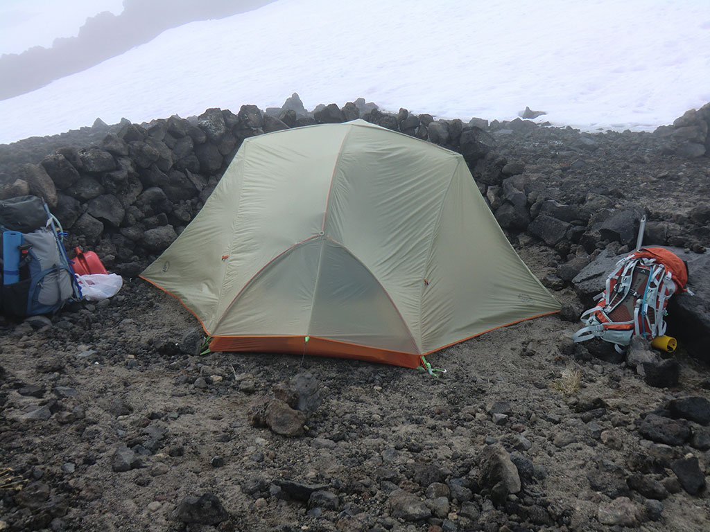 Our Big Agnes Copper Spur Tent Below Lunch Counter on Mount Adams