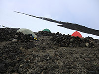 Group of Tents on Mount Adams