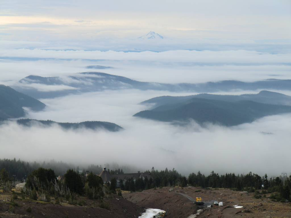 Looking South Towards Timberline Lodge and Mount Jefferson from about 7,000' Elevation