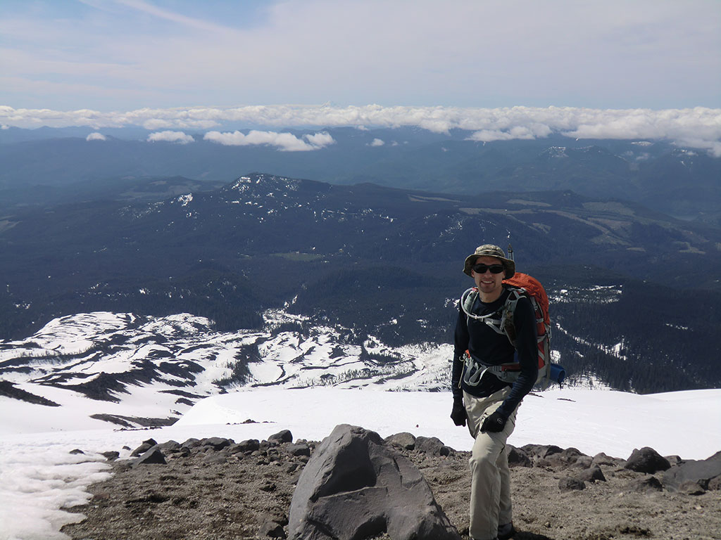 Jason with Mount Hood in the Distance
