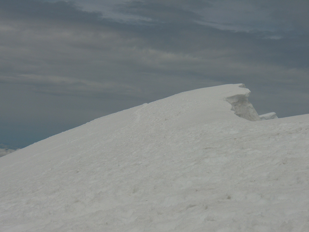 True Summit (second smaller cornice right of large cornice)