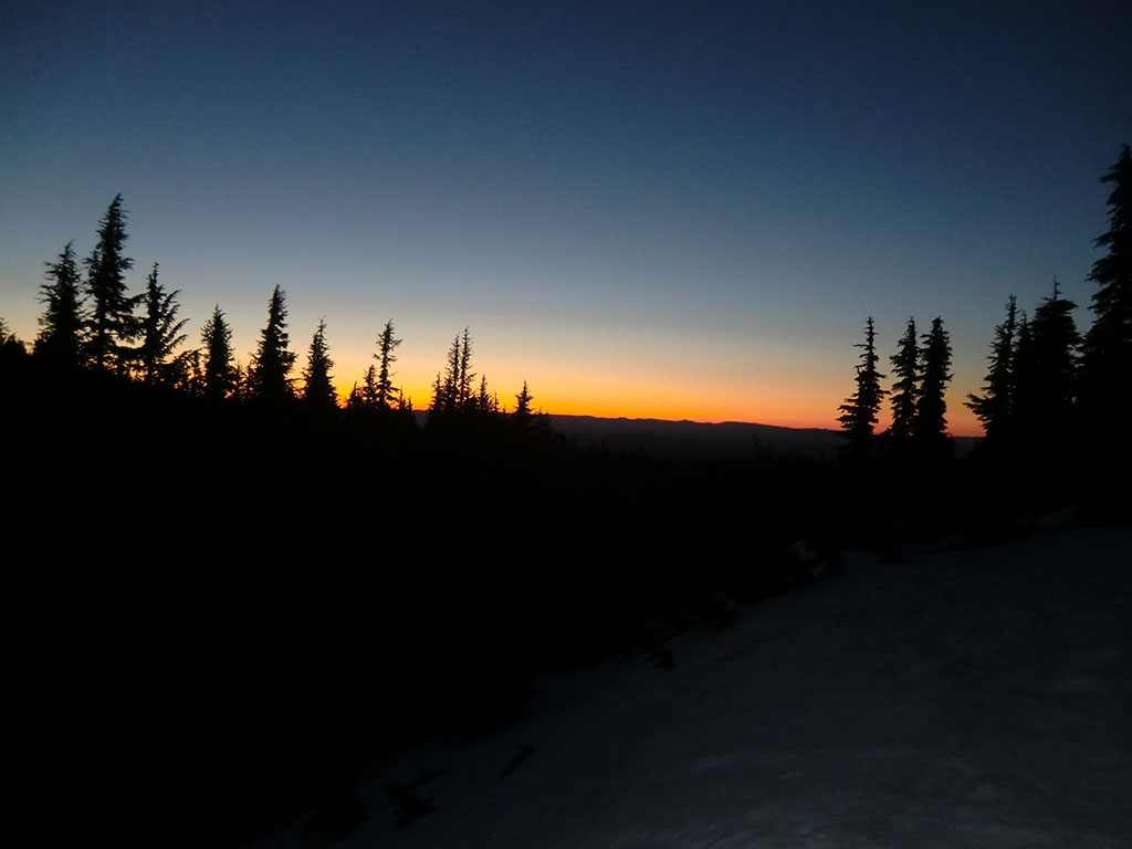 Sunrise from Slopes of North Sister, Oregon