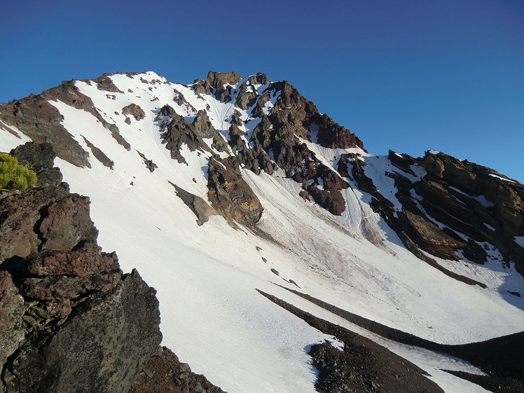 SE Ridge of North Sister (left side of photo)