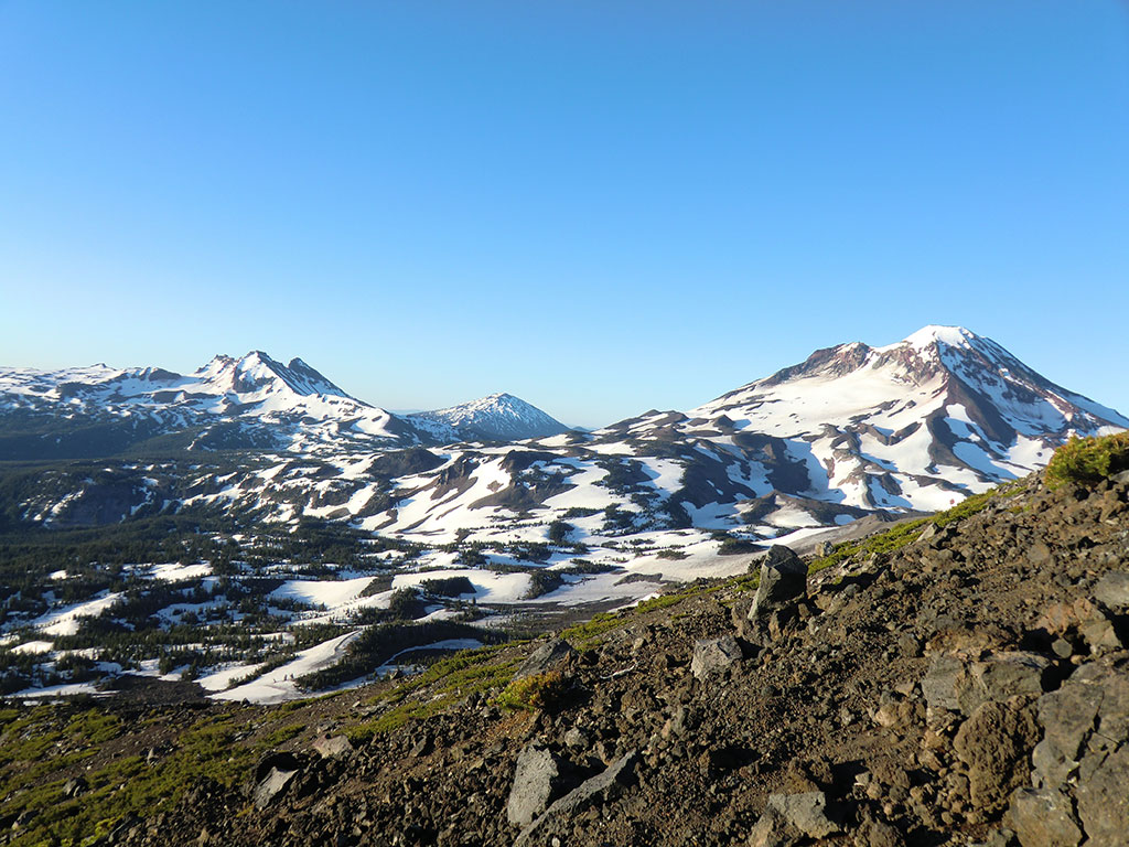 From Left to Right: Broken Top, Mount Bachelor, & South Sister