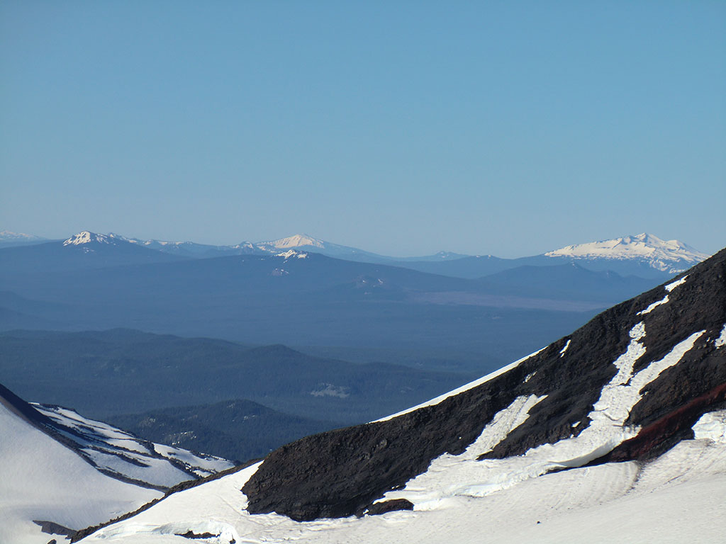 Mount Bailey (center) and Diamond Peak (right)