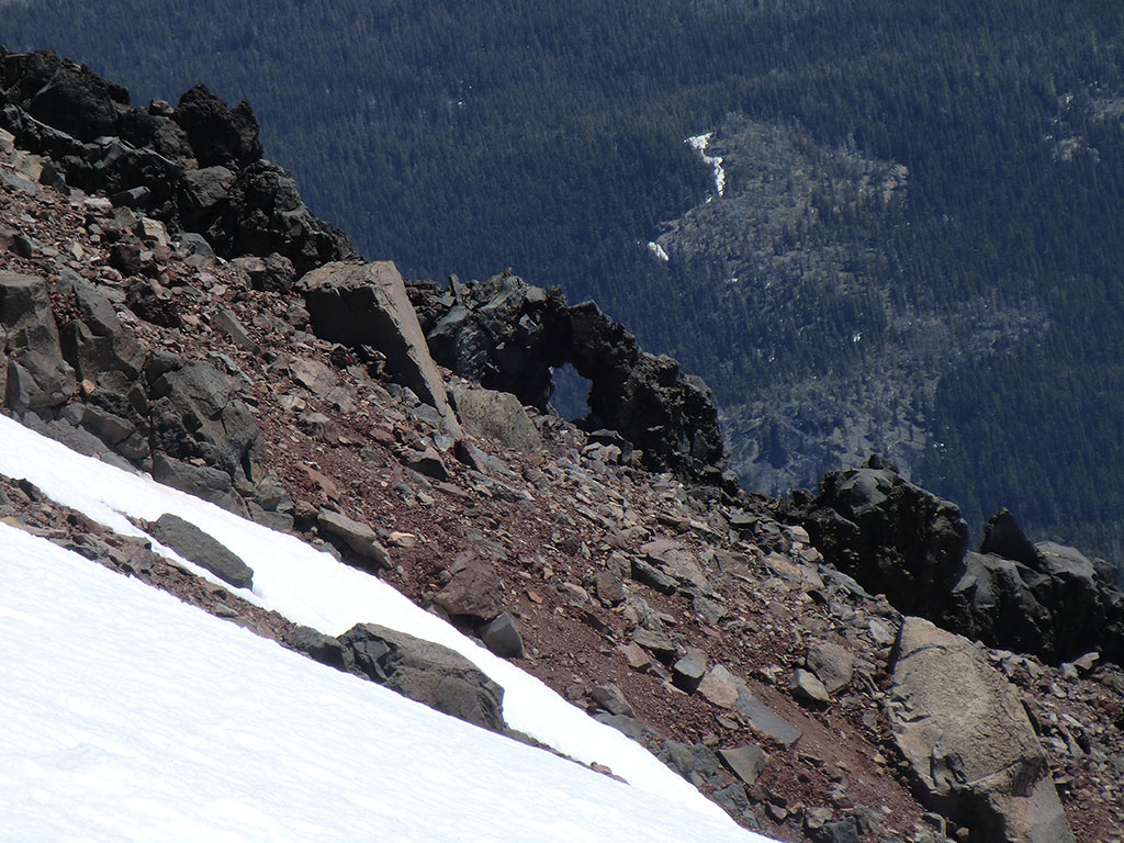 Natural Arch on SW Ridge of North Sister