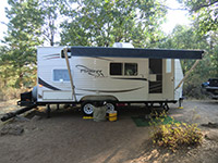 Our Fleetwood Pioneer 18CK Travel Trailer