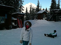 Jessica Skiing at Mt Hood Skibowl
