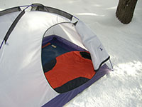 Snow Camping with Mt. Rainier Sleeping Bag