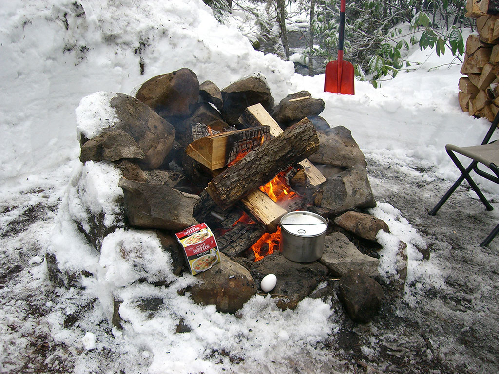 Cooking Second Lunch on Campfire