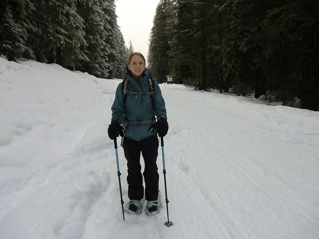 Katie on the Way to Clear Lake Lookout