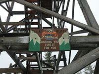 Clear Lake Lookout Sign