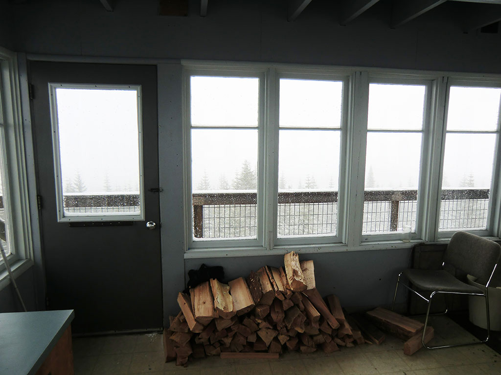 Inside Clear Lake Lookout