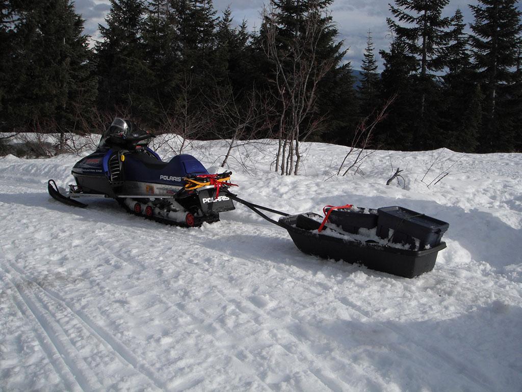 Snowmobiling And Snow Camping At Summit Lake Oregon Loomis