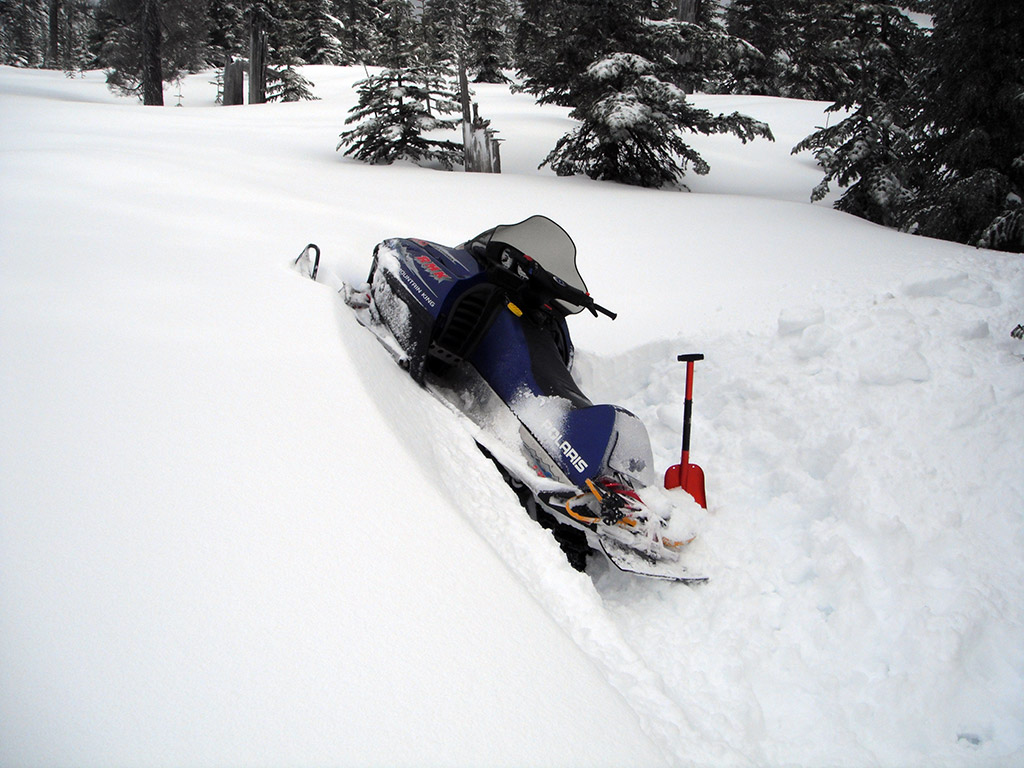Jason's Stuck Snowmobile
