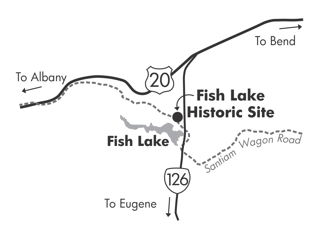 Fish Lake Historic Site Area Map