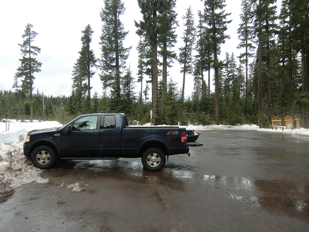 Our Truck All Alone at Lava Lake SnoPark