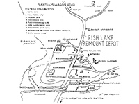 Fish Lake Remount Depot Map