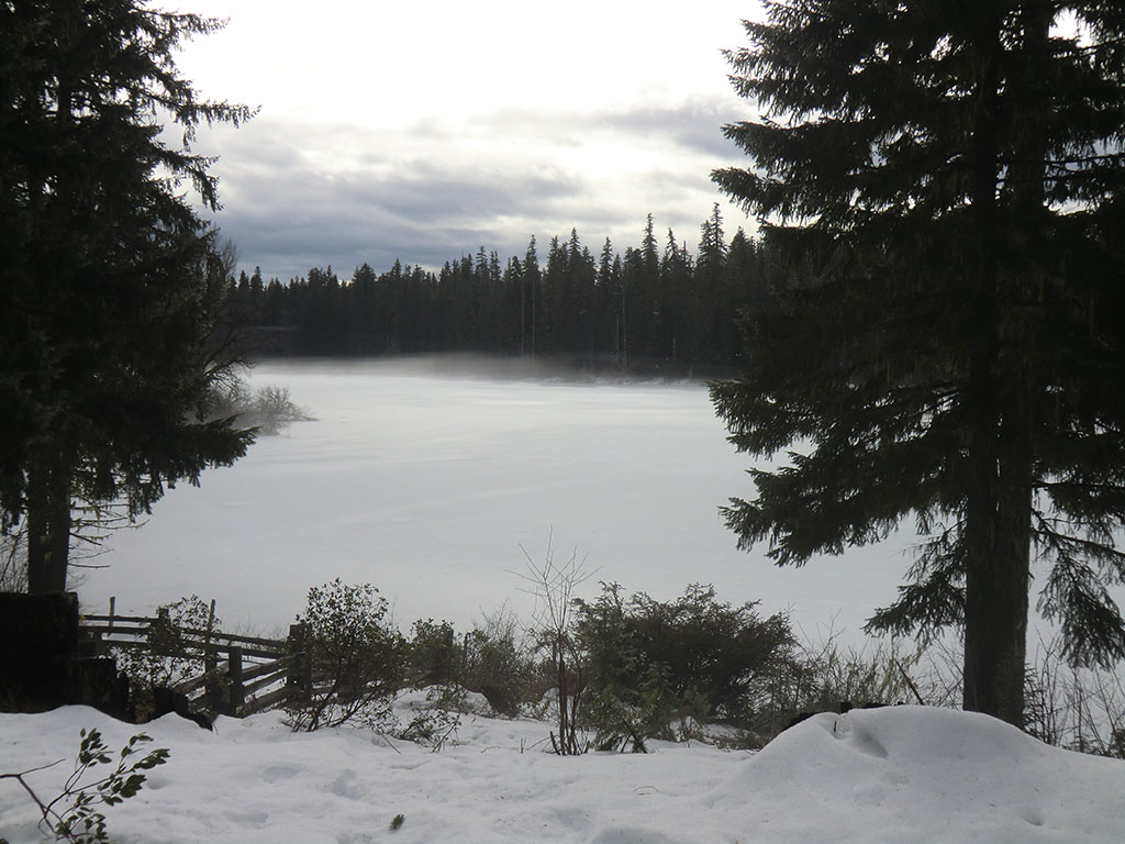 Fish Lake from Hall House Porch