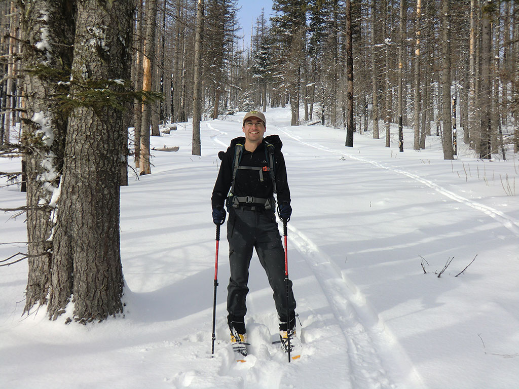 Snowshoeing to Tilly Jane A-Frame Cabin and Cooper Spur Stone ...