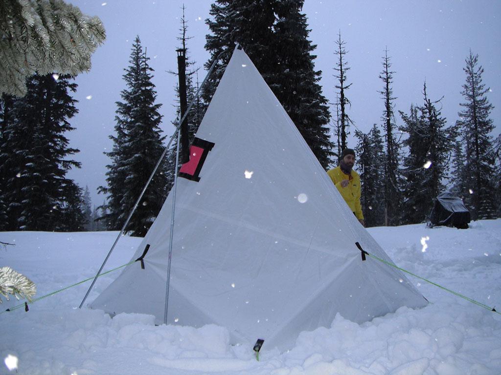 Hot Tent Snow Camping Near Surprise Lakes, Washington | Loomis ...