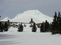 Timberline Lodge with Mt Hood in the Background