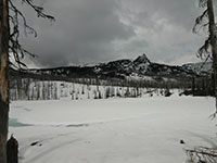 Three Fingered Jack above Booth Lake
