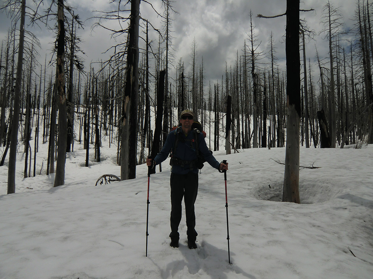 Jason Enjoying the Snow near Booth Lake