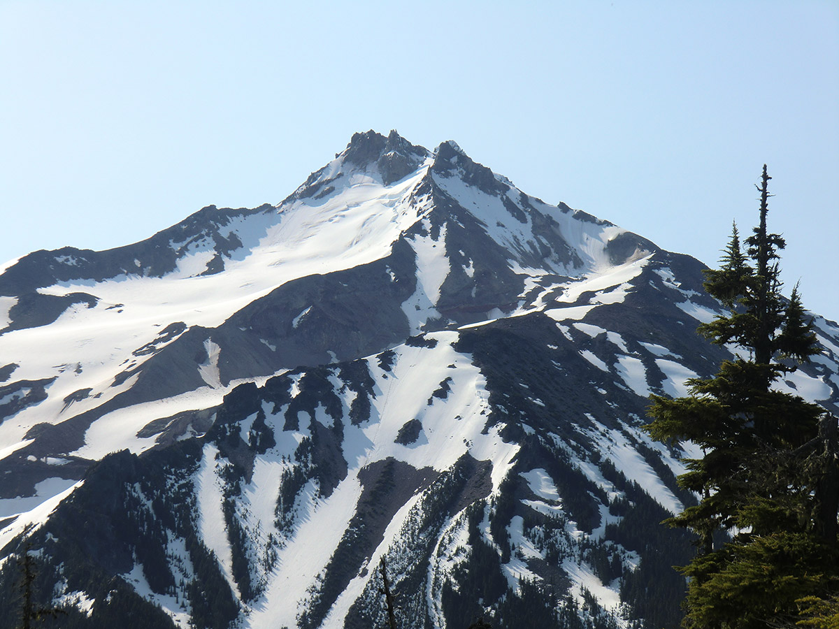 Close Up of Mt Jefferson