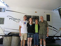 All of Us in Front of our Trailer (Jason, Katie, Mom, Dad)