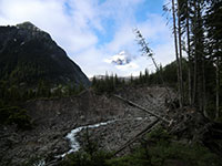 White River Canyon with Little Tahoma Peak in the Background