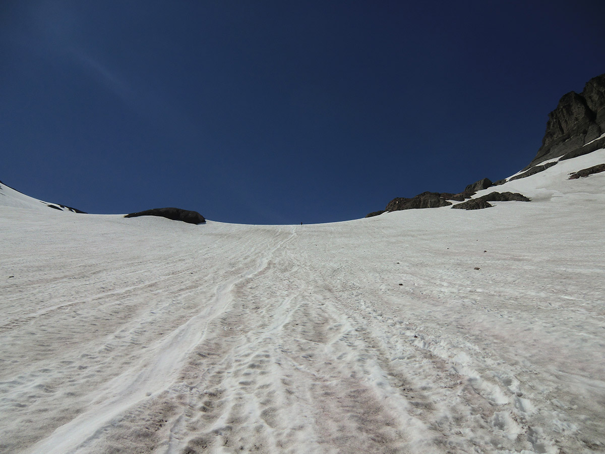 Looking Towards the Top Half Way up the Inter Glacier on Mt Rainier