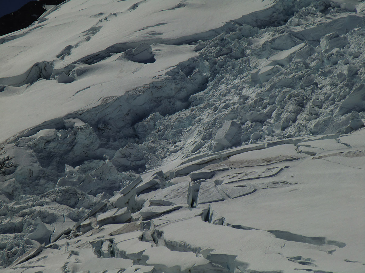 Close Up of Emmons Glacier - Mt Rainier, Washington