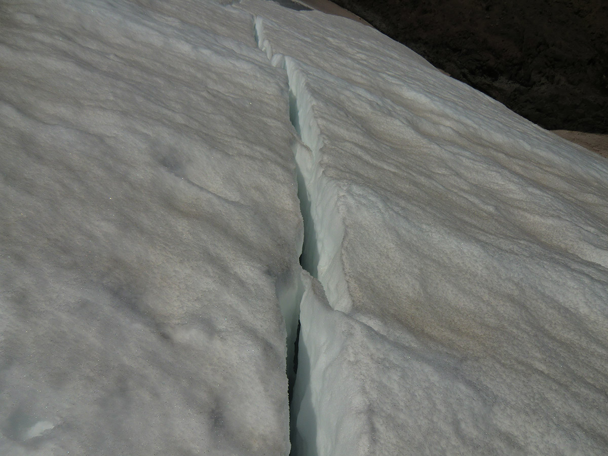 Crevasse on Emmons Glacier - Mt Rainier